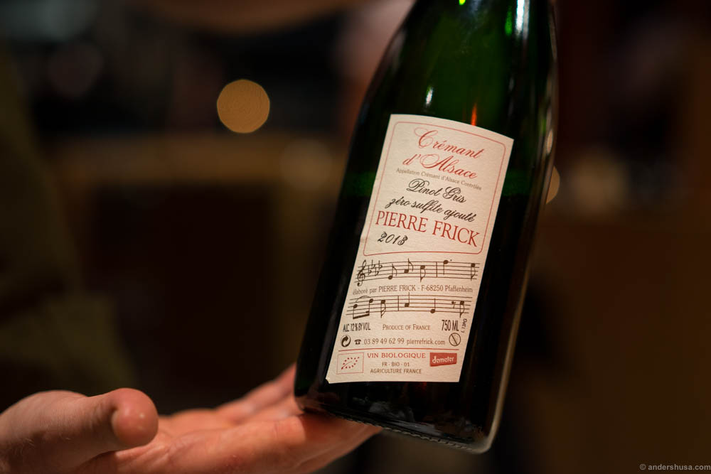 2013 Pierre Frick, Cremant d'Alsace, Brut, France from NonDos