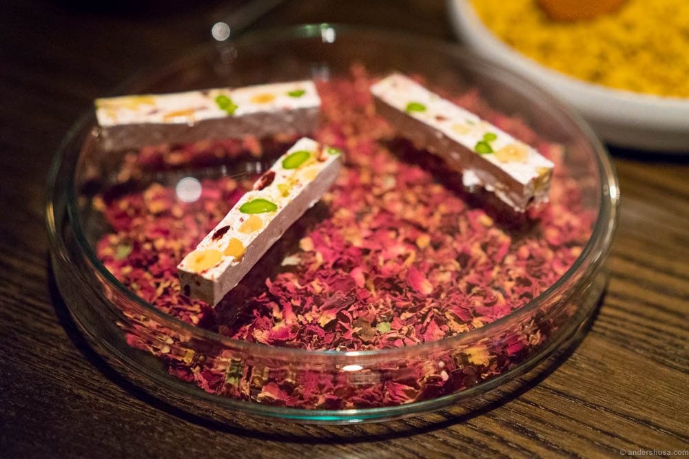 French nougat with dried fruits and nuts