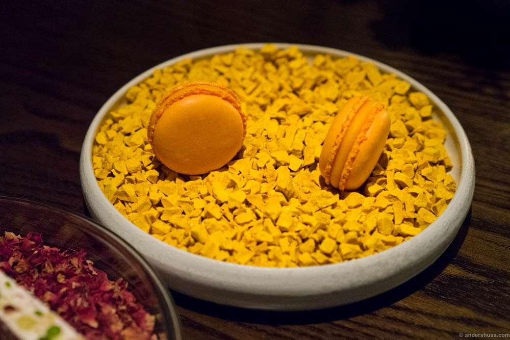 Sea buckthorn macarons
