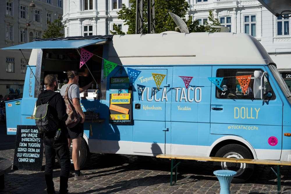 Yuca Taco parked outside Torvehallerne
