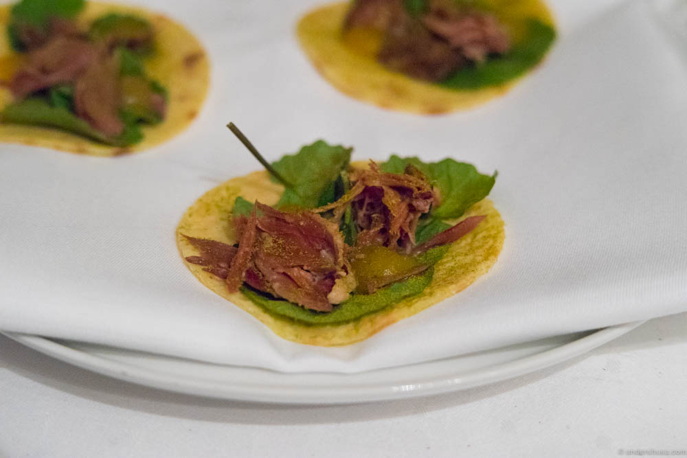 """Smalahove"" is a traditional Norwegian dish of whole sheep's head. It looks more delicate when it's presented as a taco"