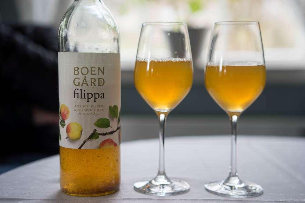 Boen Gård filippa apple juice. Made on apples from the farm