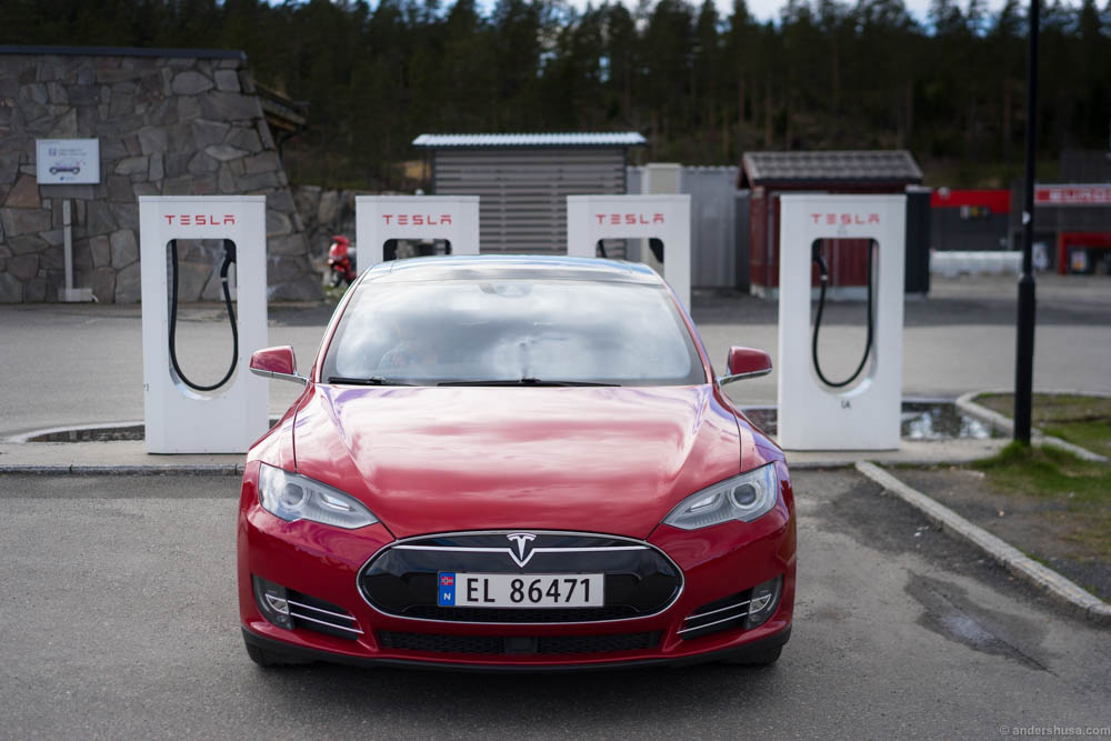 Supercharging our Tesla Model S