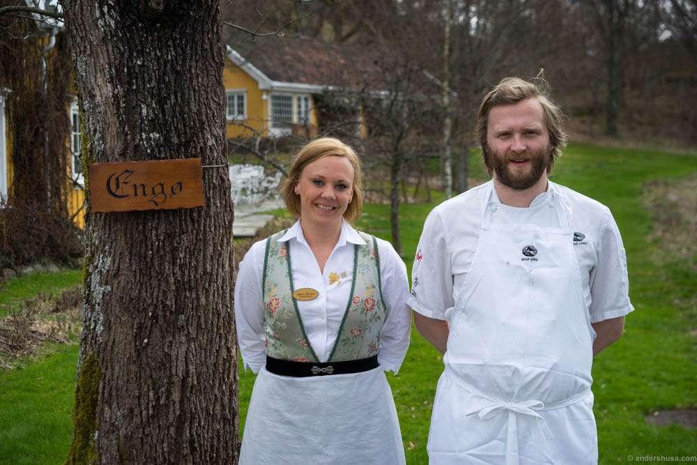 Restaurant manager and sommelier Signe Jensen and head chef Ulrik Jepsen