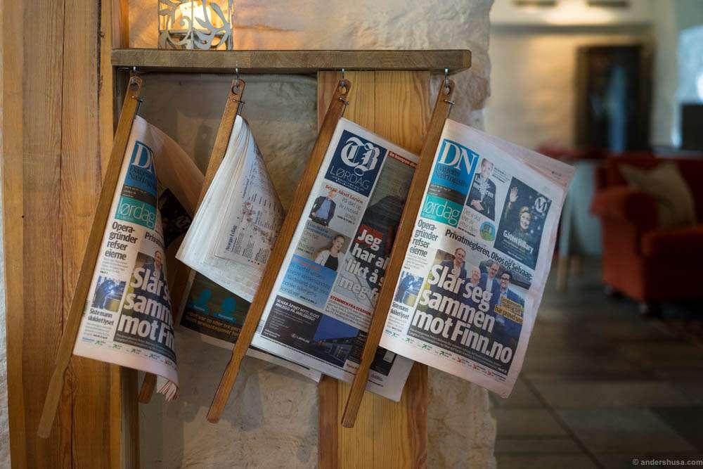 Newspaper sticks!