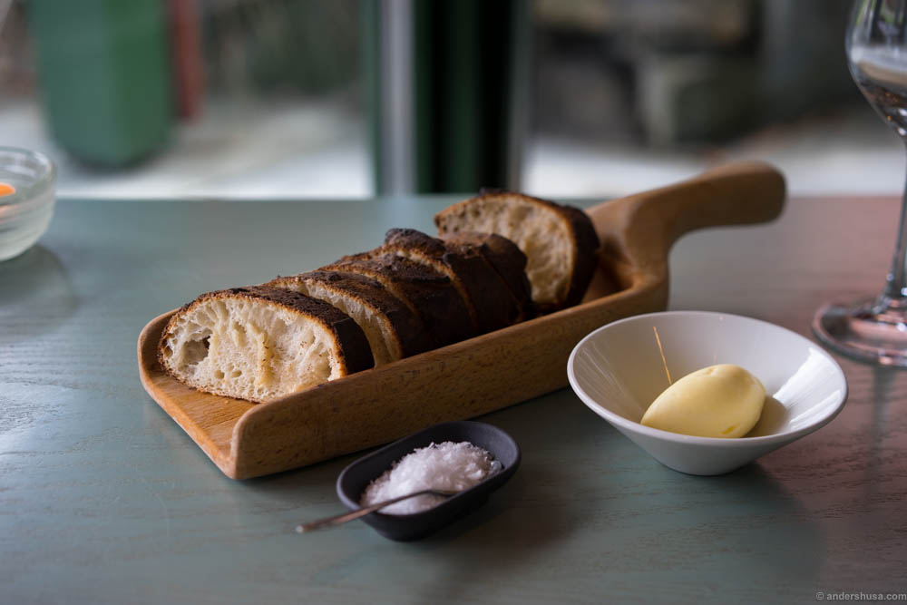 The sourdough bread by Ulrik Jepsen with a slightly burnt crust is one of the absolute best breads I have ever eaten.