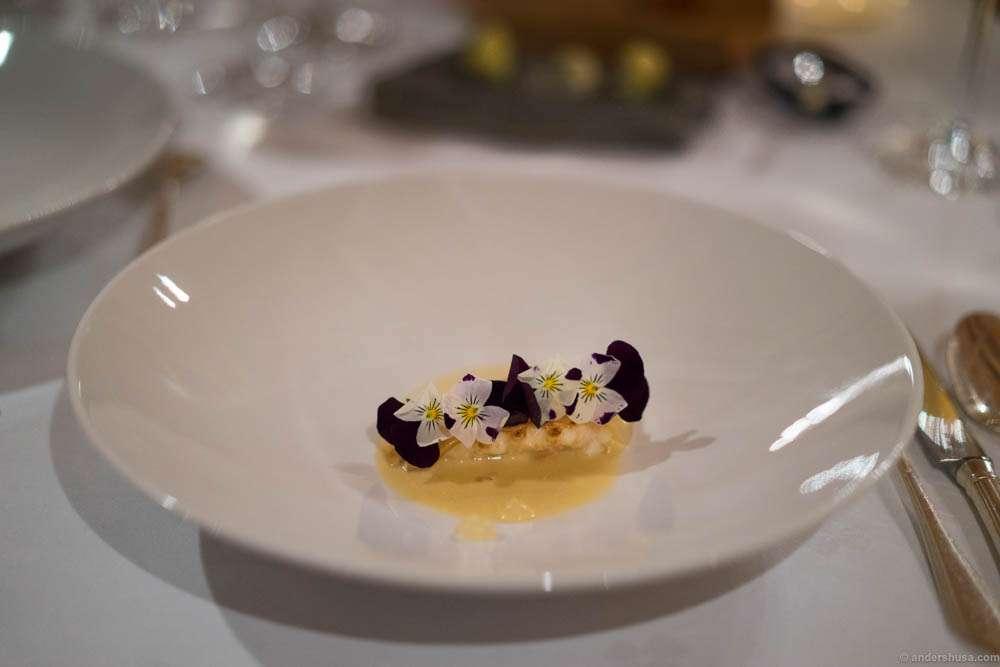Langoustine, bergamot & chamomile