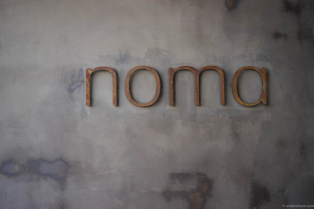 Noma Australia. The next day this sign was removed