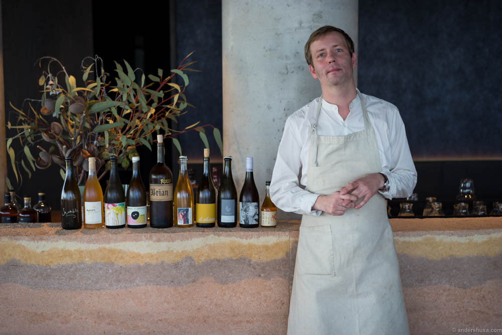 Mads Kleppe and his selection of wines for the meal