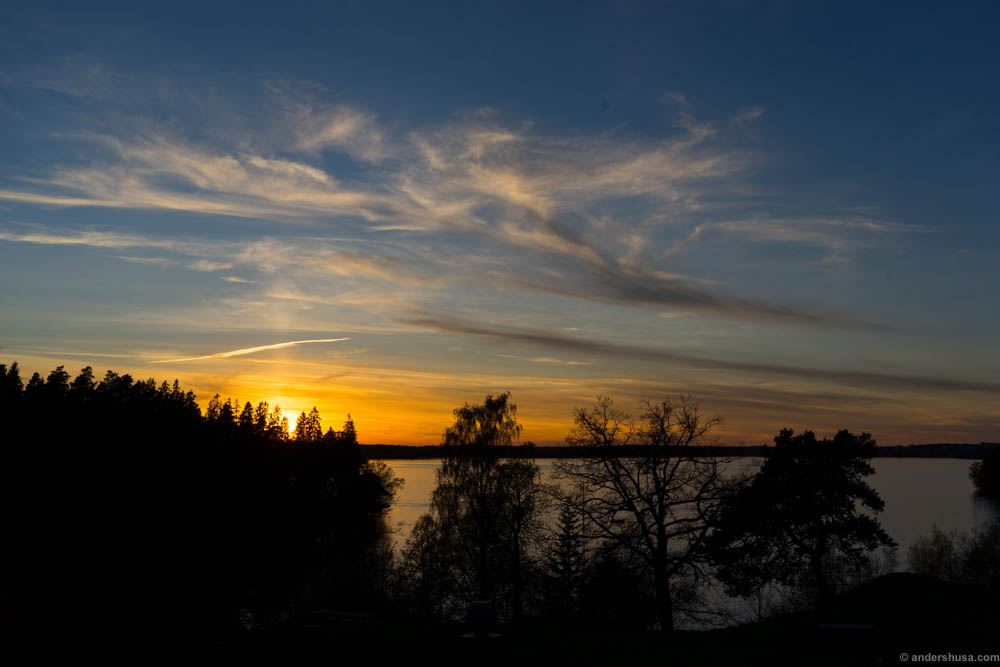 Sunset in Järfälla