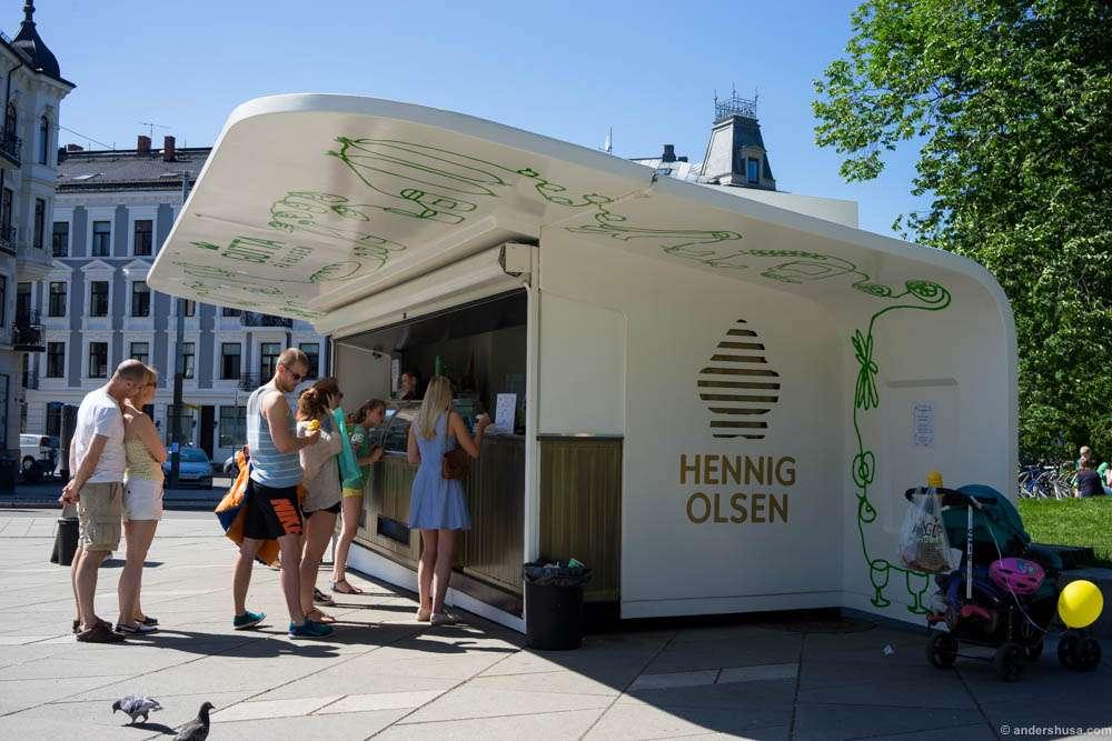 A new ice cream parlor by Gutta på Haugen