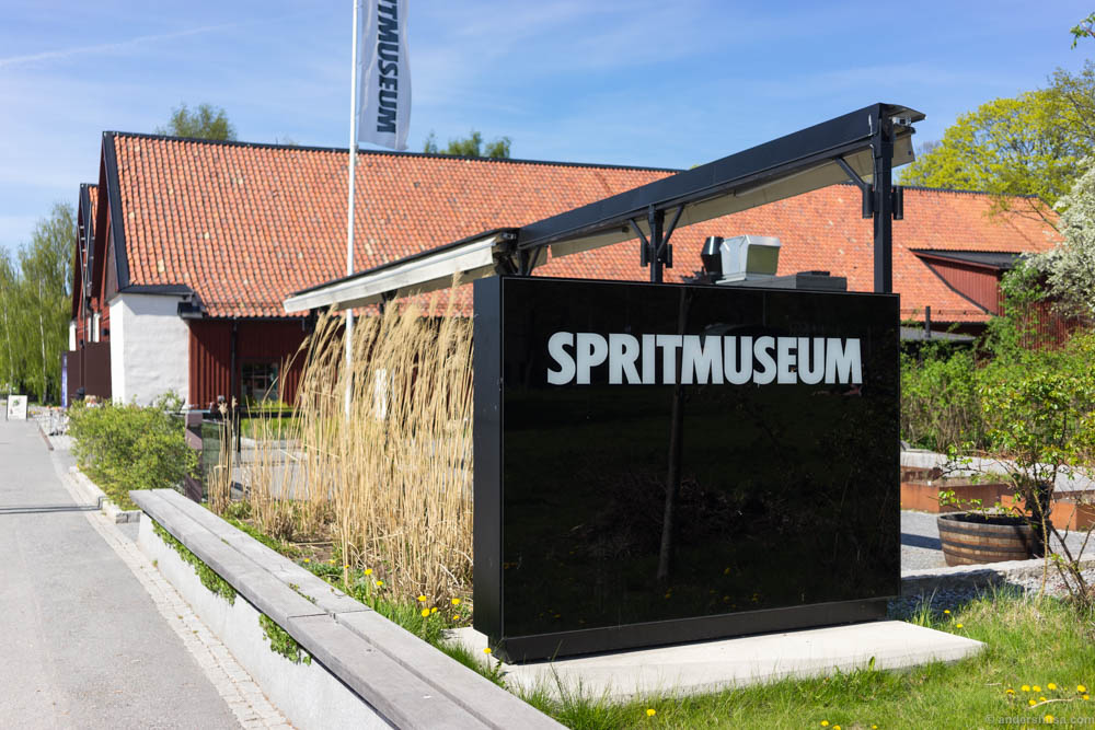 Spritmuseum. Liquor museum and a wonderful waterfront restaurant at Djurgården