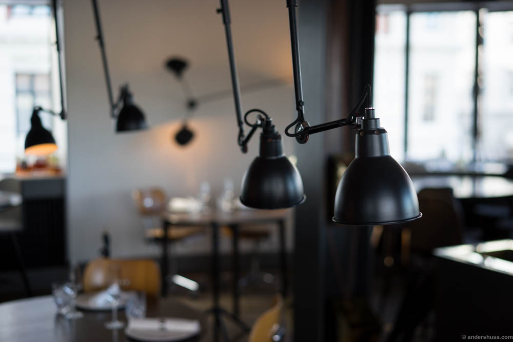 studio lamps - Gray Restaurant 2016