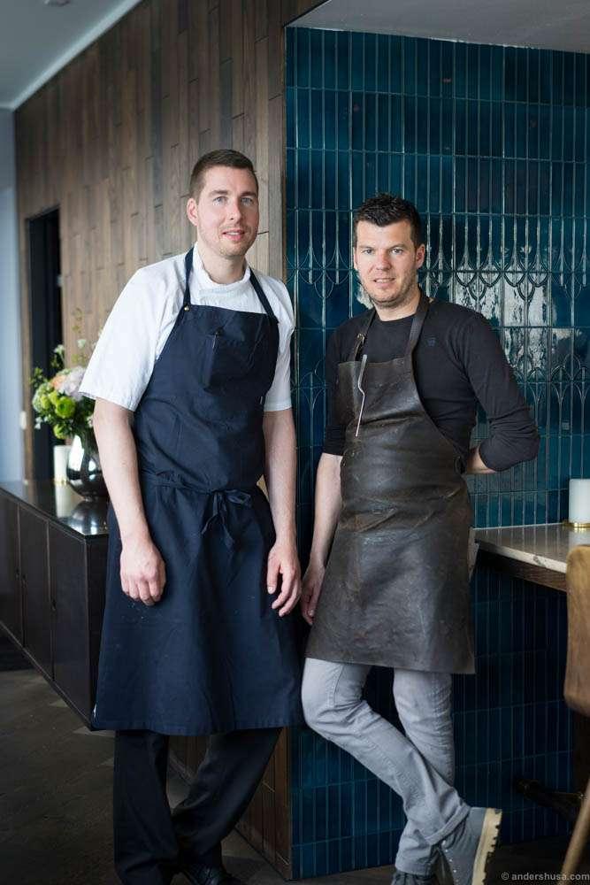 Studio's head chef Torsten Vildgaard and Hertog Jan's head chef Gert de Mangeleer