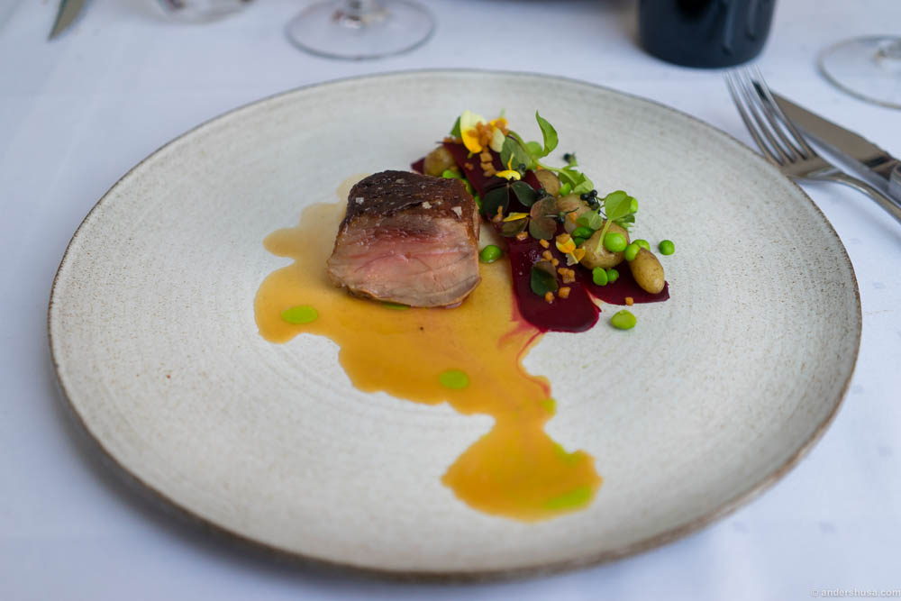 Lamb from Jæren, beets and mini potatoes from Gyda's farm in Hommersåk