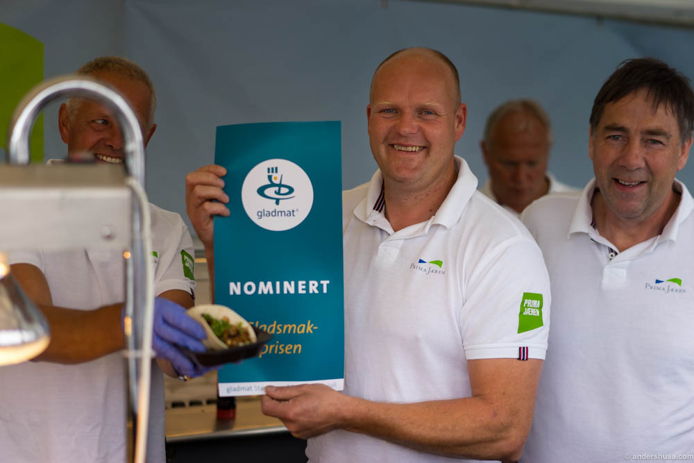 """Prima Jæren was nominated in the category """"Best Gladmat dish"""""""