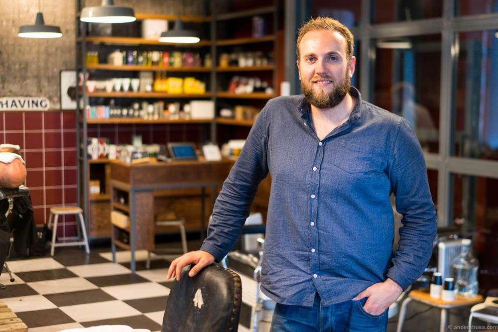My barber at PelsPels: Stefan Janketic.