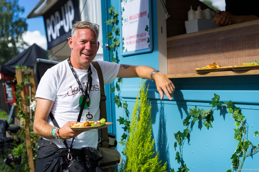 Erik Valebrokk with his and Helle's dish from their world tour with Tine's organic sour cream