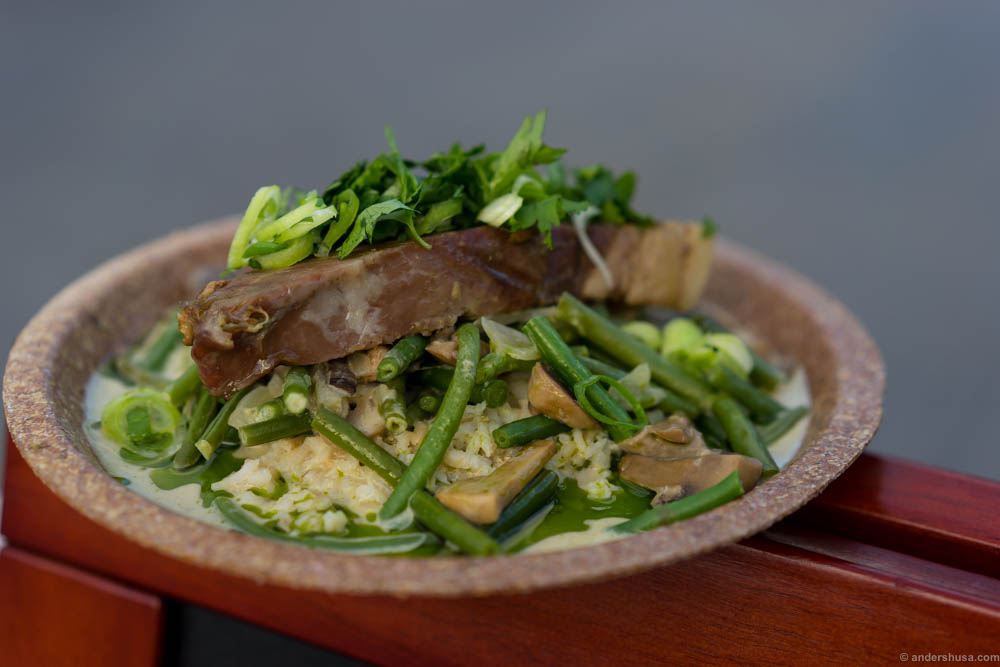 Thai green curry with slow braised beef by Kulinarisk Akademi