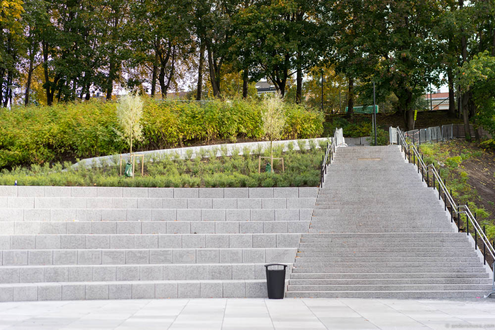 The new staircase leading to Mathallen and Vulkan, next to Nedre Foss Gård