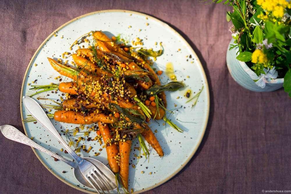 Carrots, cocoa nibs, buckwheat & seabuckthorn