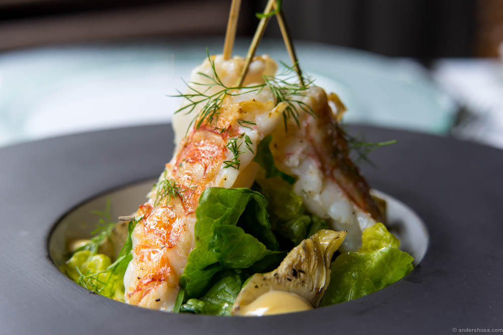 The red and white langoustine flesh should make any mouth water.