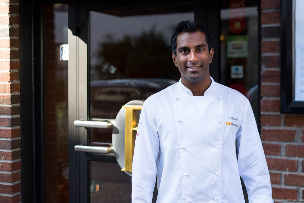 Head chef at Feinschmecker: Vinay Tangen