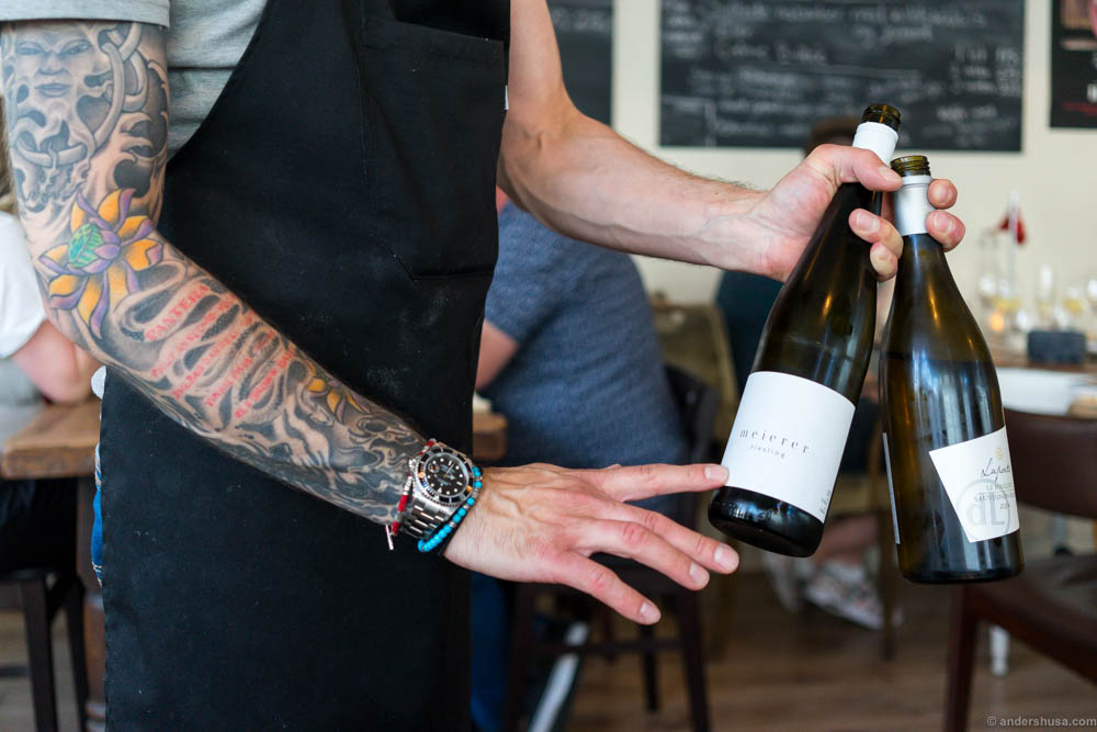 Tattoos and wine