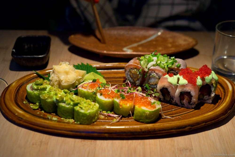 Maki omakase menu, 16 pieces