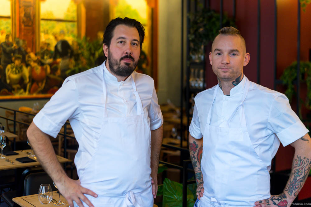 The two head chefs Christofer Bengtsson and Alexander Østli Berg