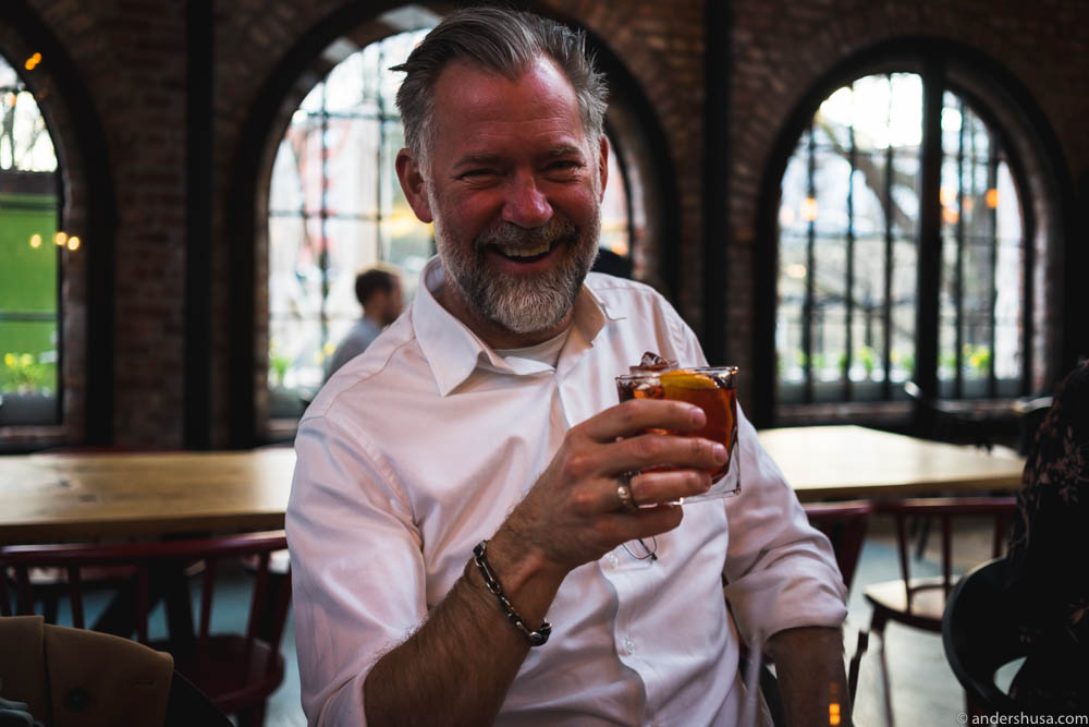 He is the most interesting man in the world, and he usually drinks negroni