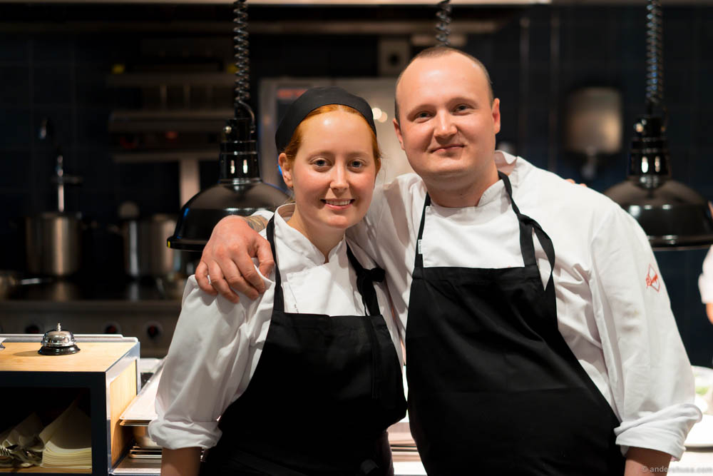 Sous chef Sanna Jakobsson and head chef Axel Nordahl