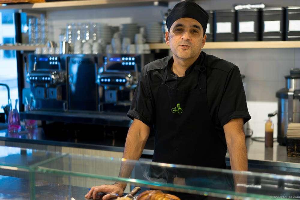 Head chef and baker Pierre Xavier Chinniah