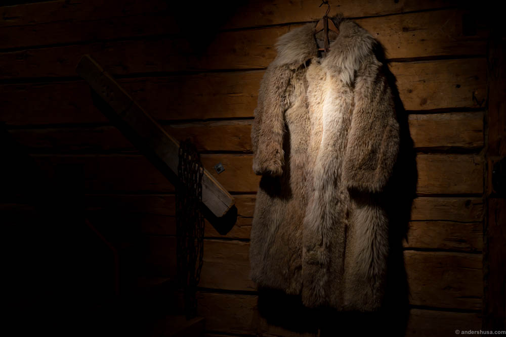 Magnus Nilsson's wolf fur in the lounge area