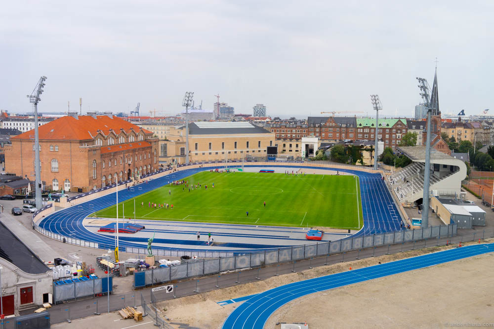 View to the stadium