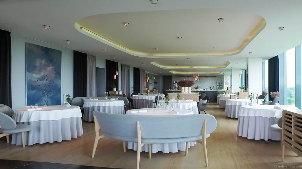 The newly refurbished main dining room of Geranium