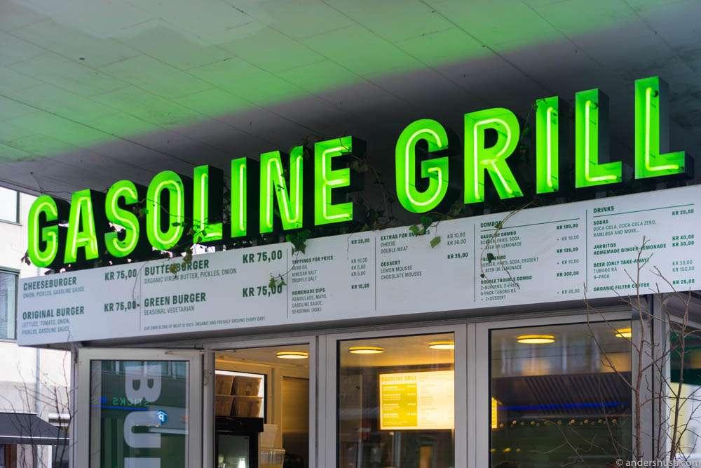 Gasoline Grill's original location – inside a gas station at Landgreven.