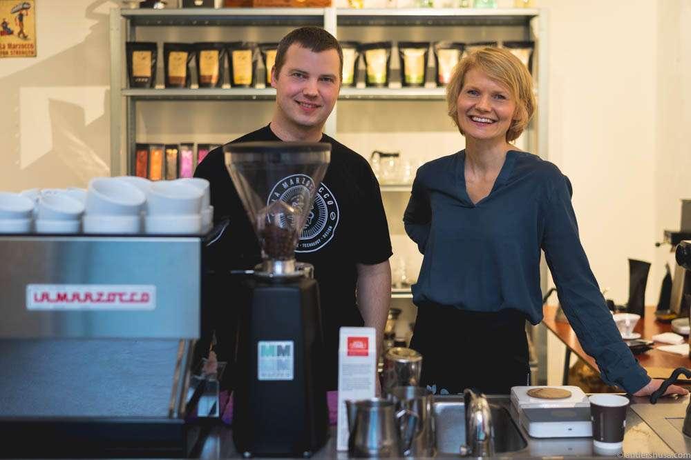 Roast master Gunnar Lillevold & barista Anne Birte Bjørdal Hanken