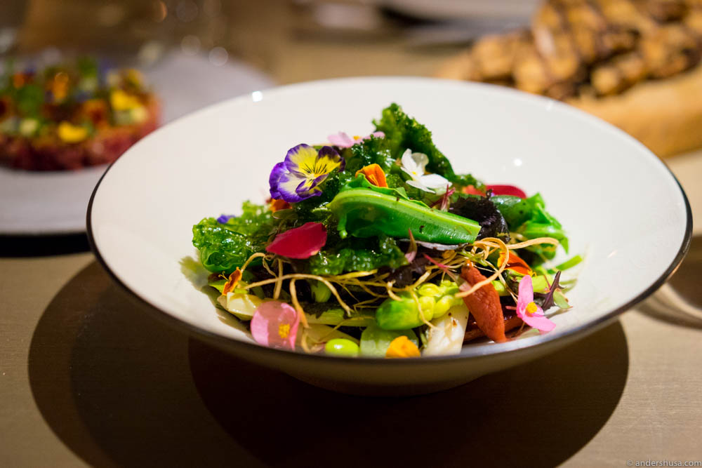Mume salad: 20+ types of seasonal vegetables & fermented black beans