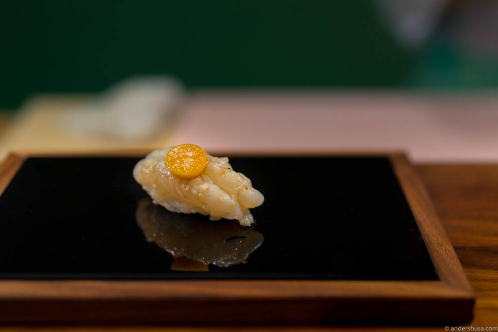 One of Roger's creations at Sabi Omakase