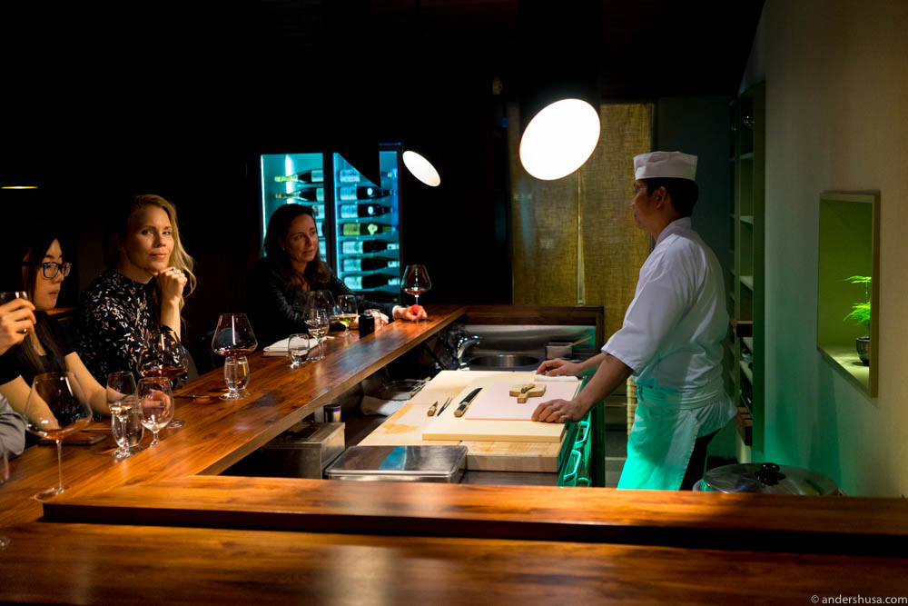 Exclusive seats around the omakase sushi counter