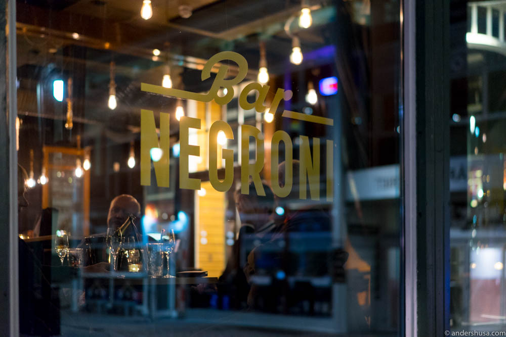 Bar negroni cocktails vermouth stavanger rogaland norway for Food bar stavanger