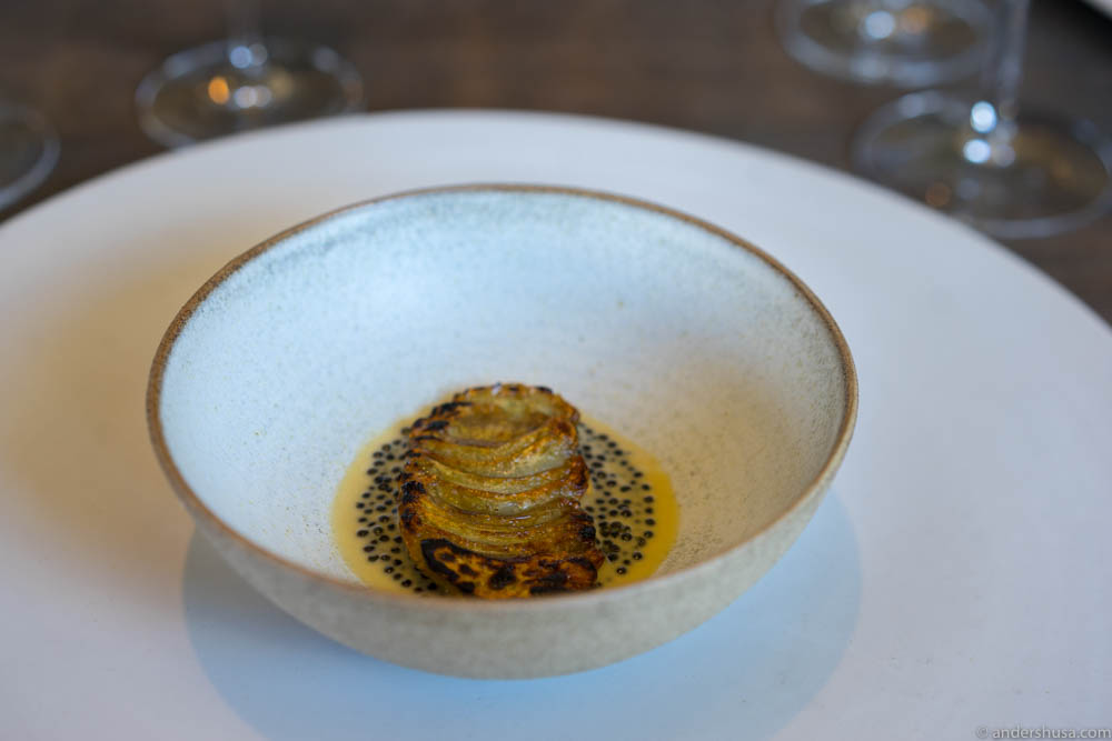 Artichoke and caviar
