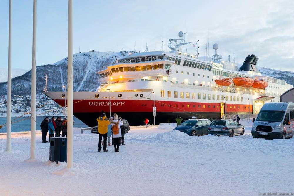 MS Nordkapp in Tromsø harbor