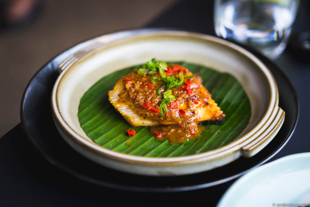 Grilled skate wing in Emperor sauce
