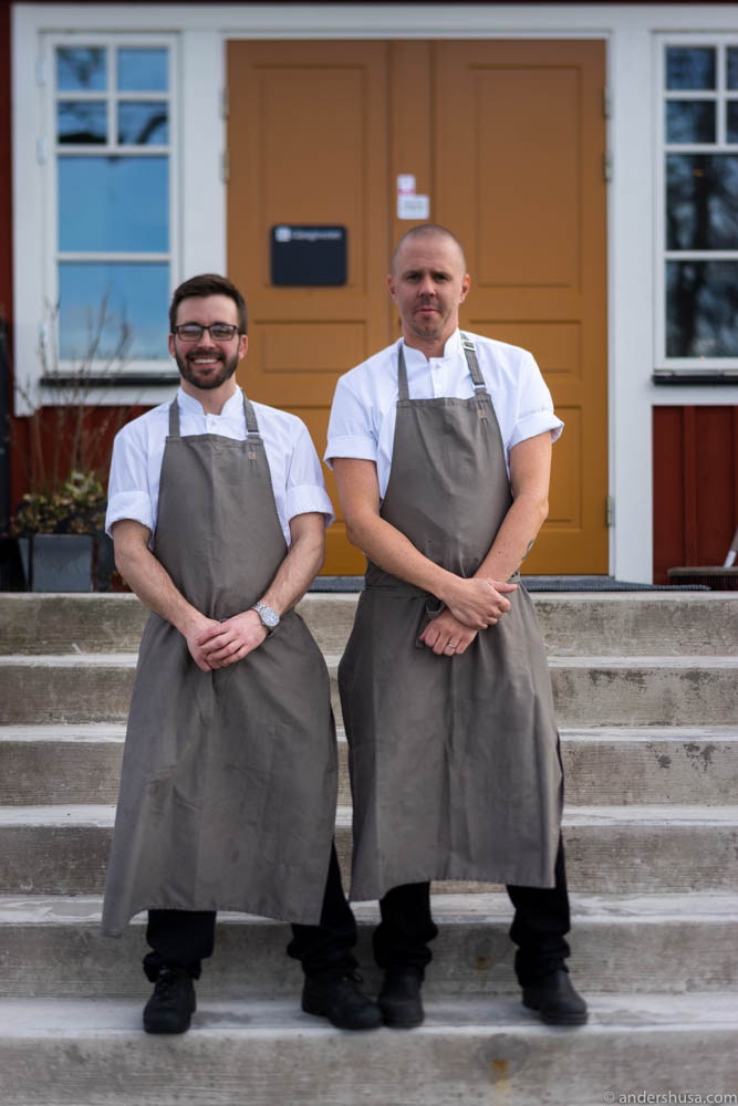 Head chef Mark Monkman and executive chef Anders Johnsson