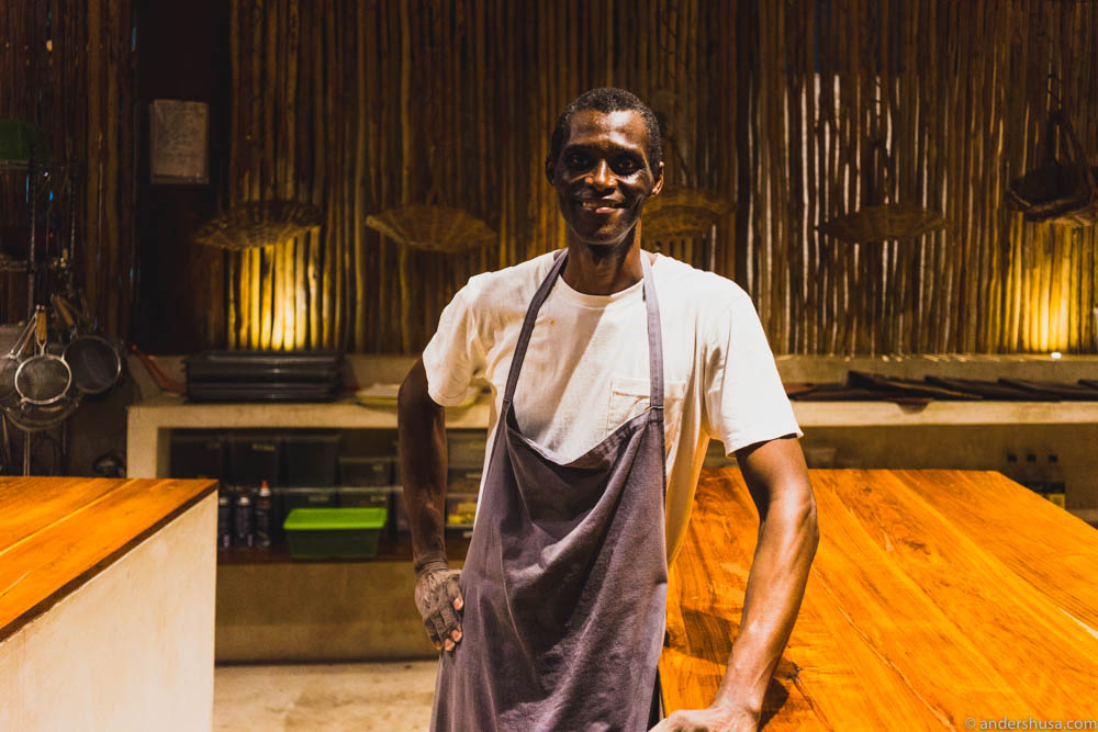 Noma's dishwasher and now co-owner Ali Sonko