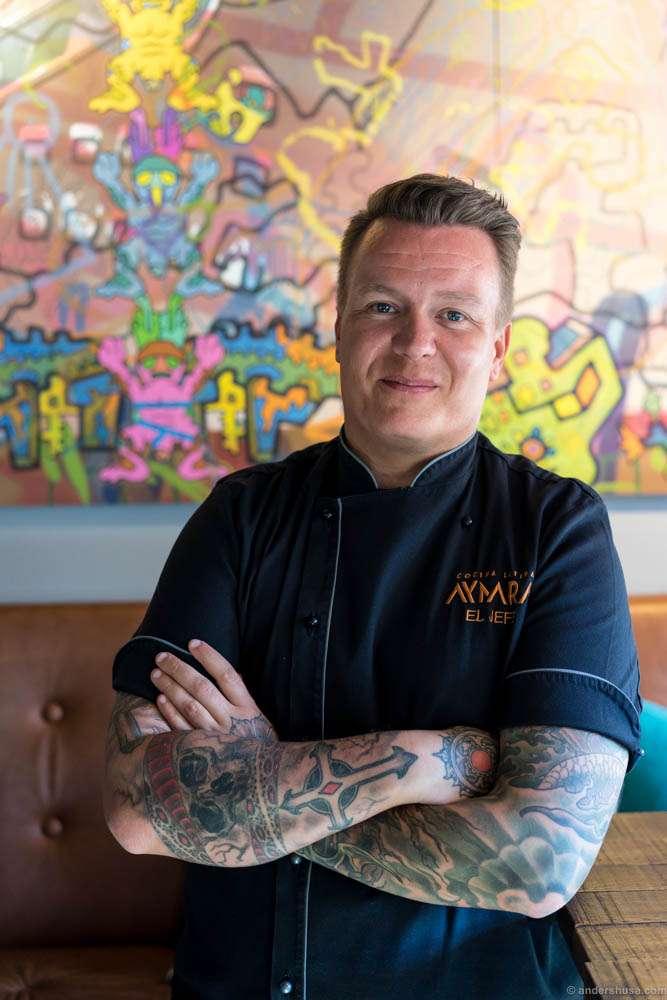 Head chef Kim Daniel Mikalsen