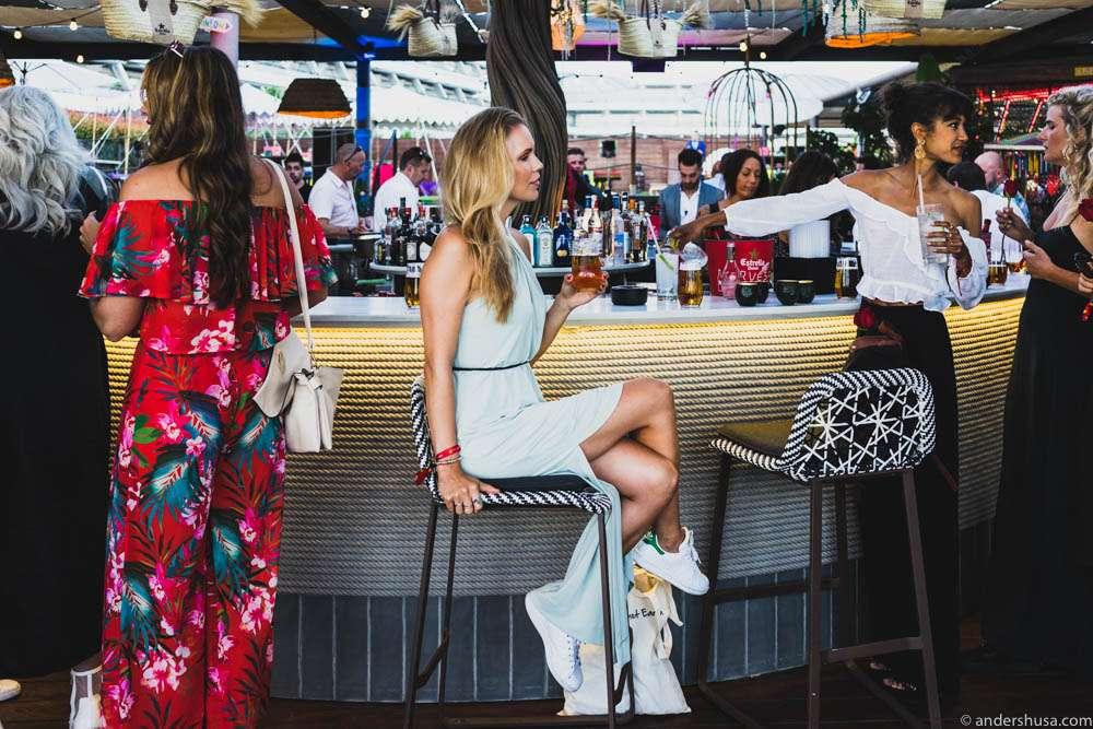 Rooftop terrace bar at Heart Ibiza