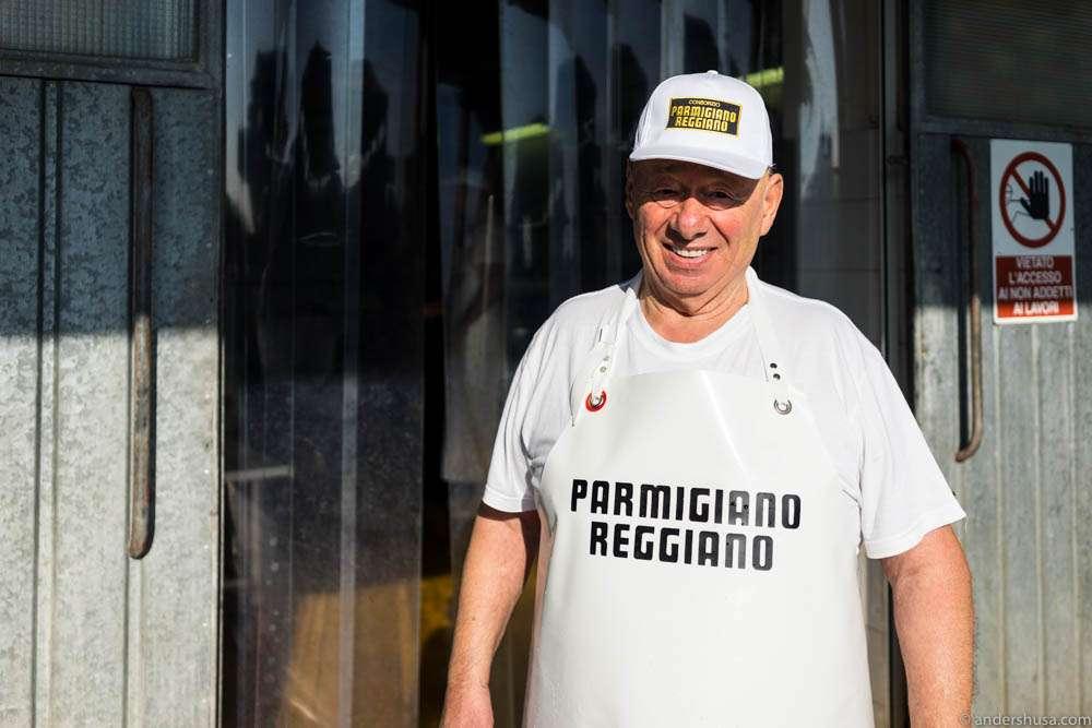 Grandpa Giorgio has made cheese for 60 years!